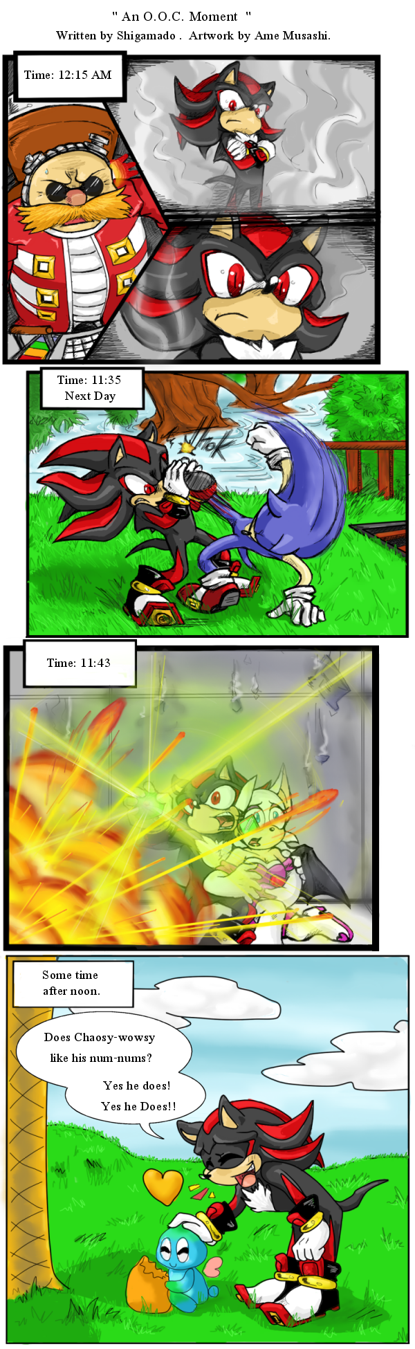 Sonic Eggs ~ An O.O.C. Moment (SA2)